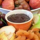 Array of Autumn Fruits with Dark Chocolate Dip