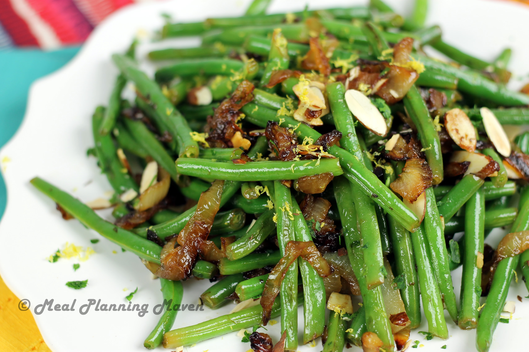 Pan-Roasted Green Beans with Caramelized Onions - Meal Planning Maven