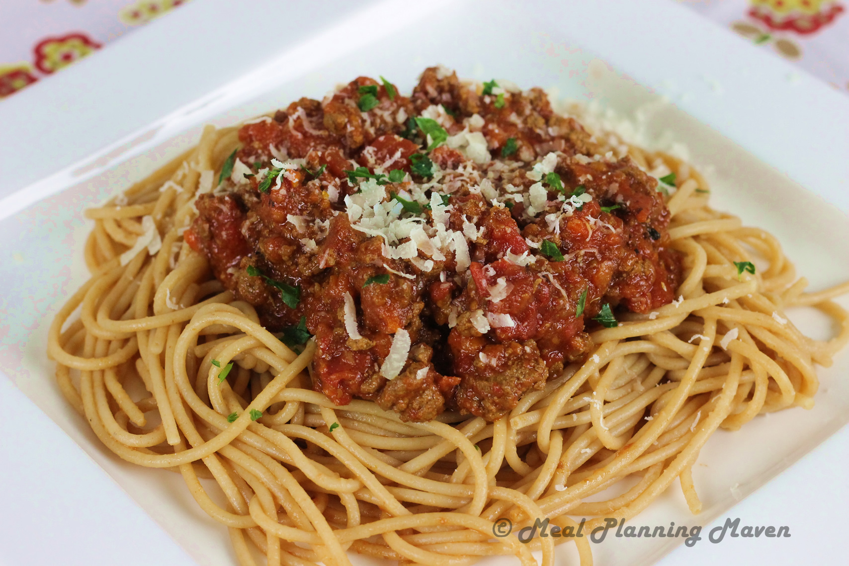 Crockpot Spaghetti Sauce with Meat - Meal Planning Maven