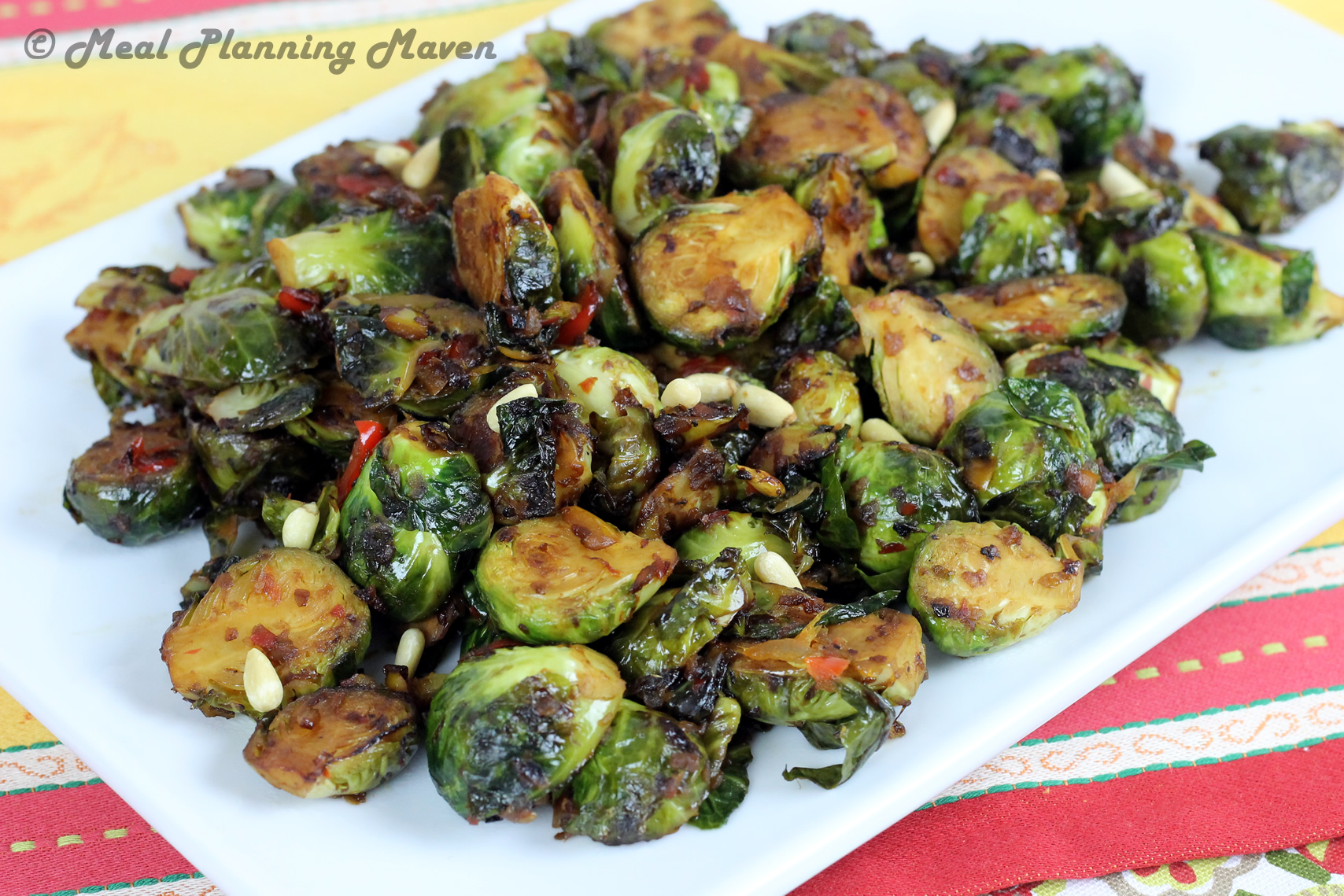 Balsamic-Glazed Brussels Sprouts - Meal Planning Maven