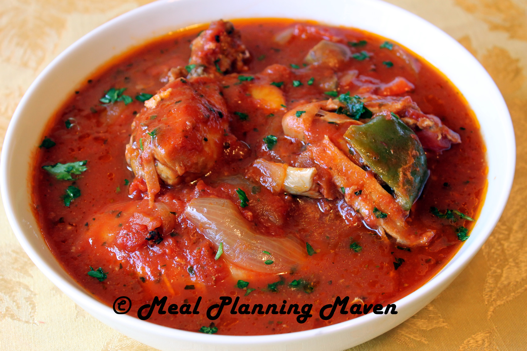 Click HERE for Crockpot Chicken Cacciatore Recipe