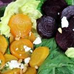 Duo of Beets Salad with Orange-Basil Vinaigrette