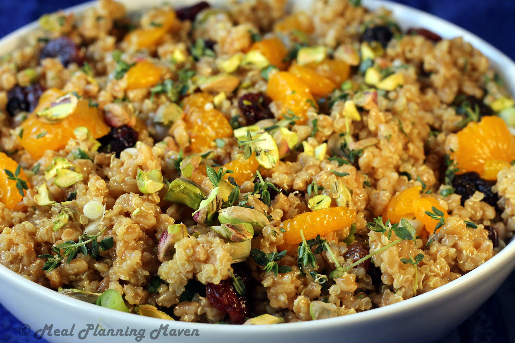 Farro n Quinoa Salad with Dried Cherries and PistachiosMeal