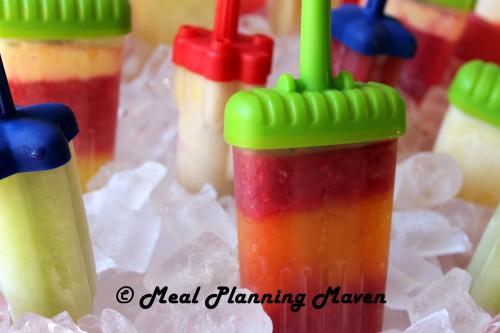 Homemade Frozen Fruit Juice Pops