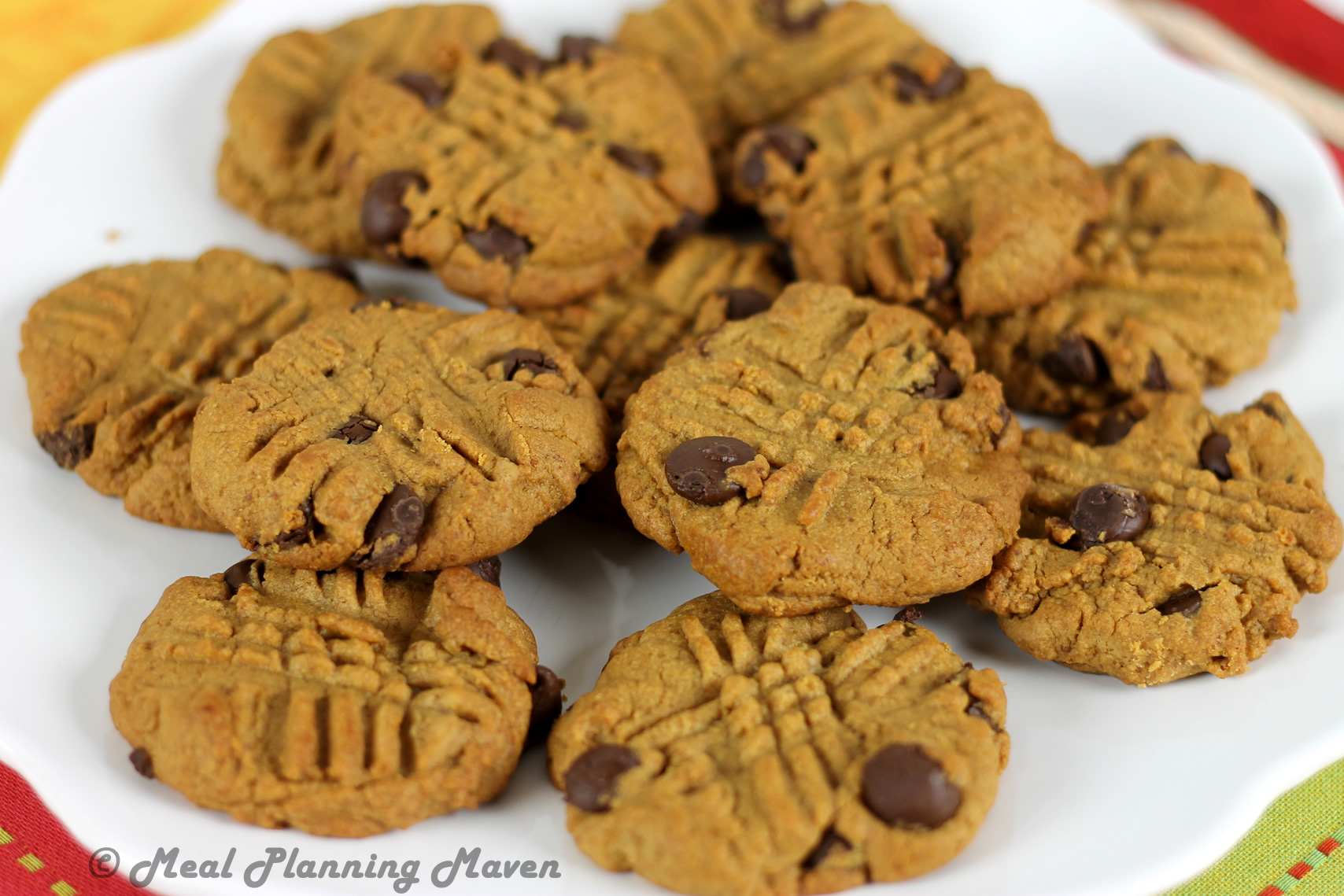 Chewy Peanut Butter Choco-Chip Cookies - Meal Planning Maven