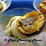 Grilled Peaches with Maple-Almond Crumble