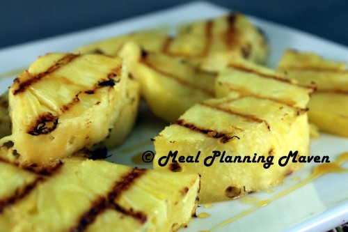 Grilled Pineapple with Orange-Honey Glaze