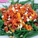 Haricot Vert Salad with Chunky Tomato Dressing
