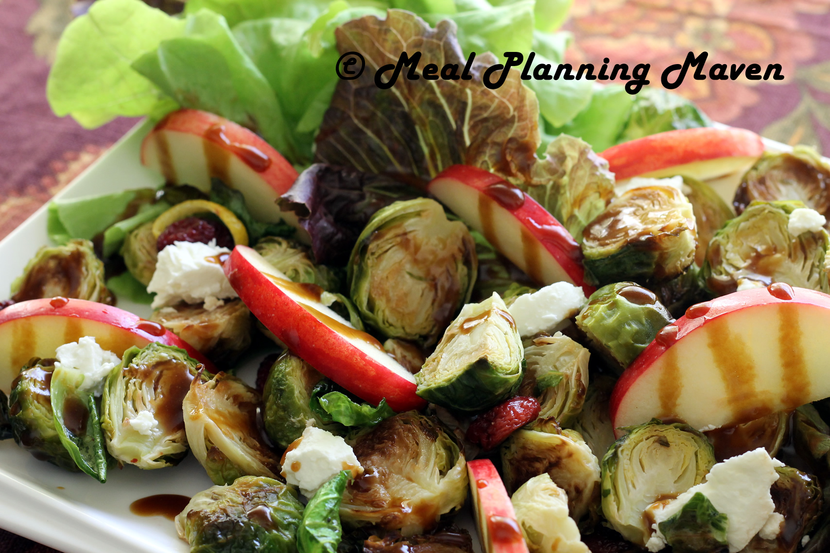 Roasted Brussels Sprouts 'n Apple Salad with Balsamic Drizzle - Meal ...