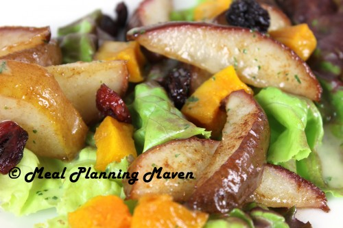Roasted Pear and Butternut Squash Salad - Meal Planning Maven