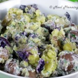 Smashed New Potatoes with Fresh Herbs