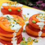 Summer Tomato Stacks with Herbed Buttermilk Dressing