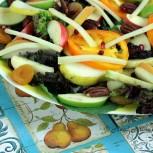 Sweet Autumn Salad with Creamy Pear Vinaigrette