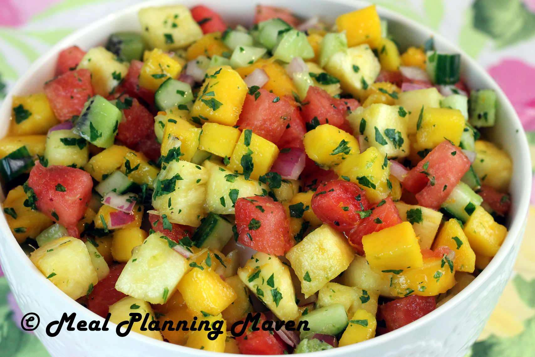 Tropical fruit salsa meal planning maven for Fruit salsa for fish