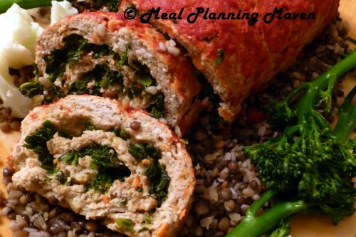Turkey-Spinach Meatloaf Roulade - Meal Planning Maven