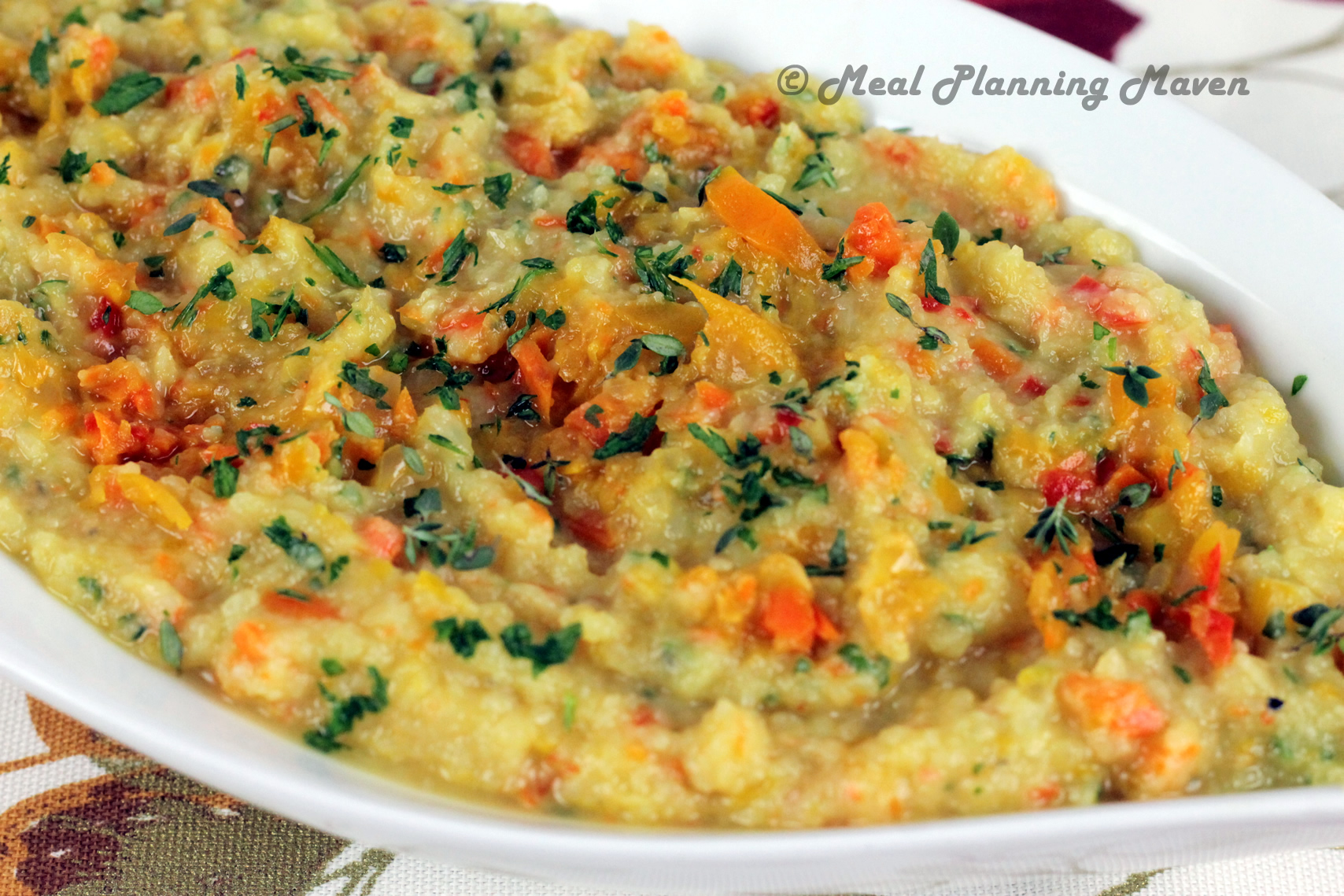 Mashed Confetti Cauliflower - Meal Planning Maven