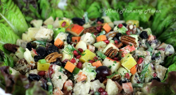 After Thanksgiving Turkey 'n Fruit Salad + Goodies with Yummy Leftovers