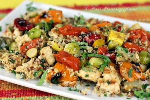 Chicken, Roasted Vegetables 'n Quinoa Toss - Meal Planning Maven