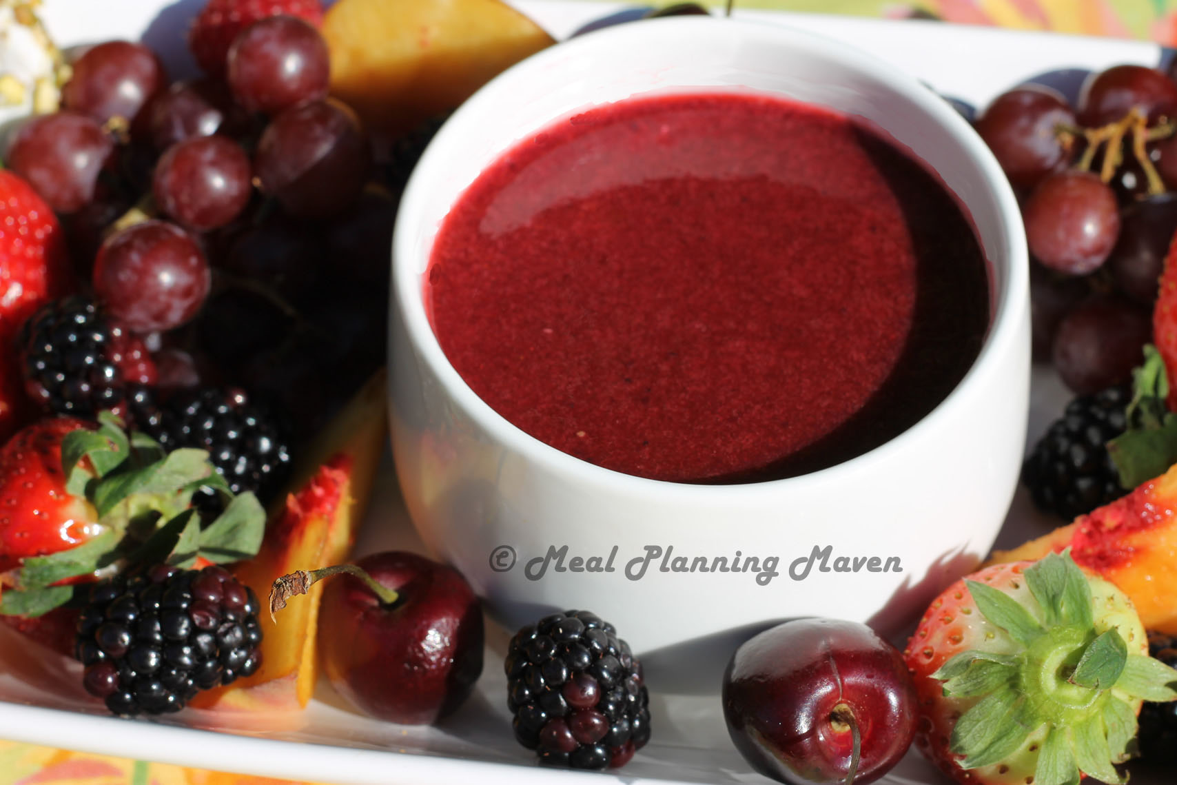 Mixed berry coulis meal planning maven for Fruit coulis