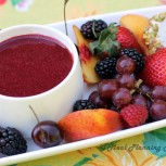 Fruit Array with Goat Cheese Medallions 'n Berry Coulis