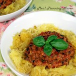 Spaghetti Squash with Chunky Roasted Bell Pepper Sauce