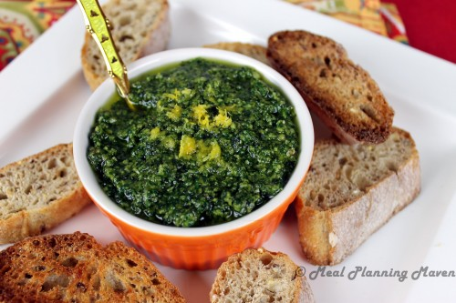 Almond-Apricot Chicken With Mint Pesto Recipe — Dishmaps