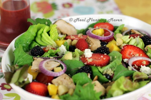 Grilled Chicken Salad with Berry-Balsamic Vinaigrette ...