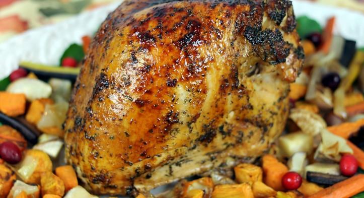 Maple-Orange Glazed Turkey Breast  +Thanksgiving Sweet Endings