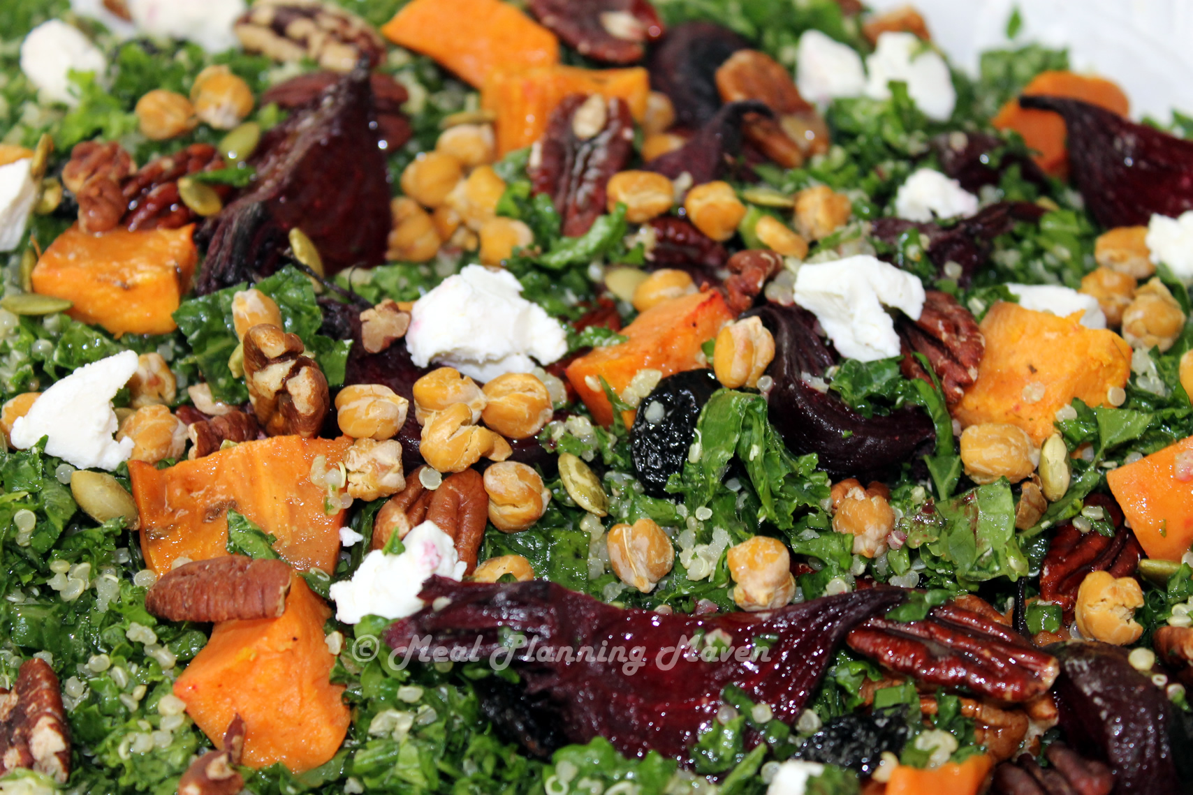 Kale, Quinoa 'n Roasted Beet Salad with Maple-Cider Vinaigrette