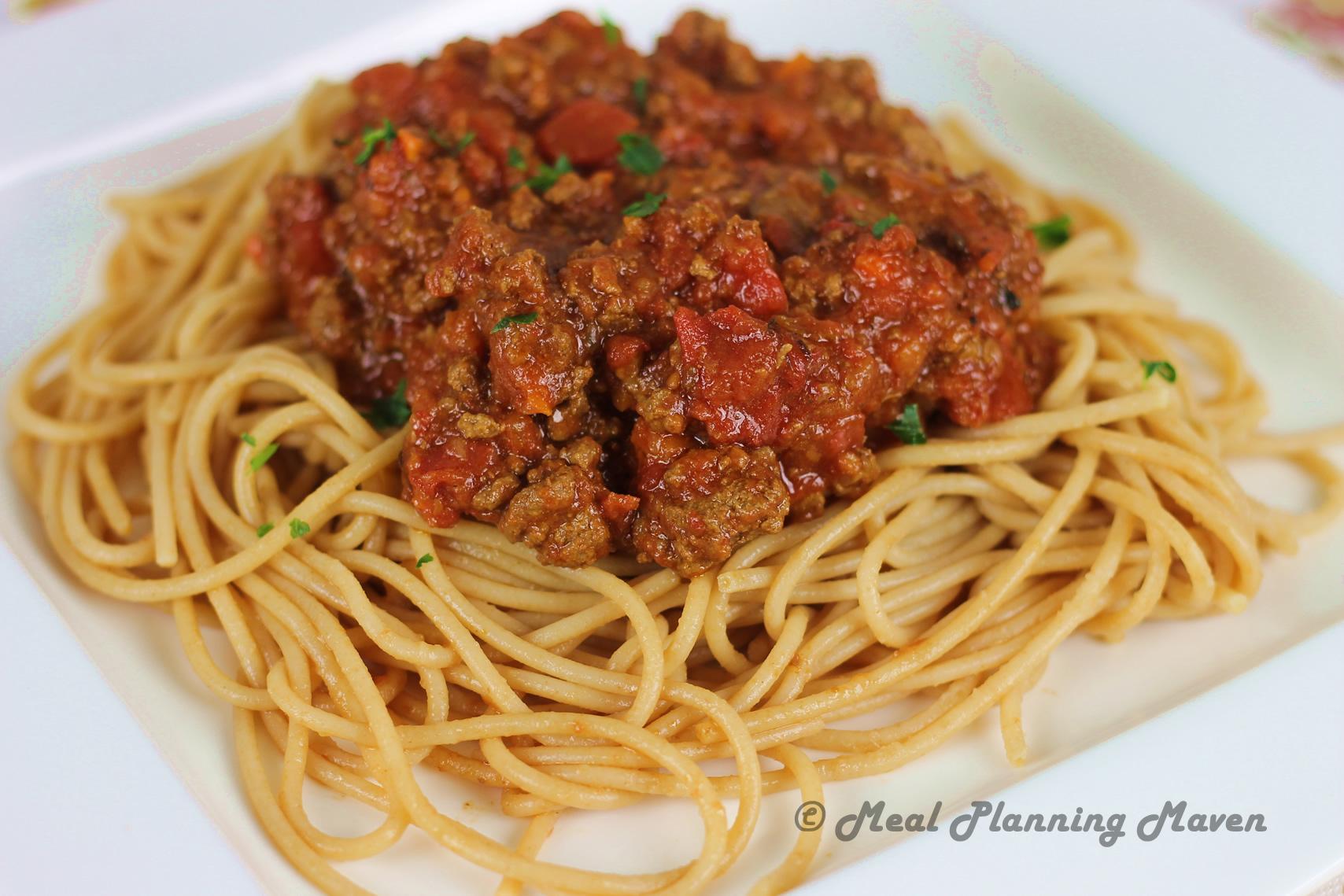 crockpot spaghetti sauce recipe