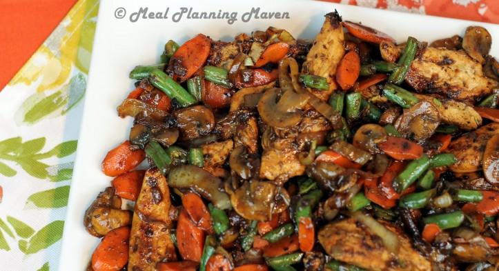 One Pan Honey-Balsamic Chicken 'n Vegetables