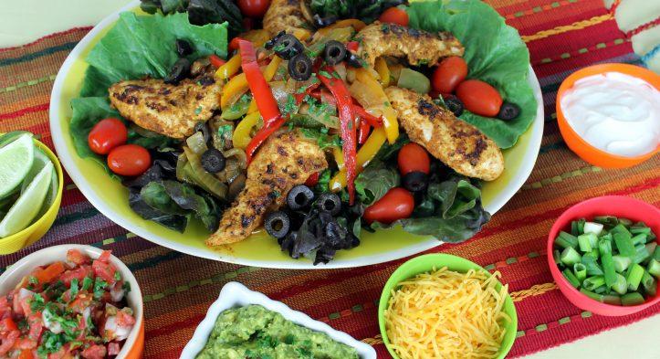 Cinco De Mayo Chicken Fajita Salad