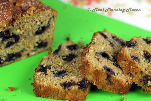 Blueberry Oat Bread - Meal Planning Maven