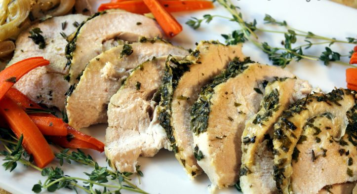 Herb-Crusted Turkey Breast with Leeks 'n Carrots + Yummy Thanksgiving Sides