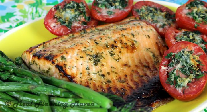 Roasted Honey-Dijon Salmon with Fresh Herbs
