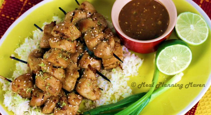 "Chicken ""Satay"" with Tamari-Peanut Dip"