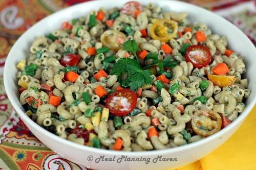 Festive Macaroni Salad - Meal Planning Maven